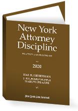 New York Attorney Discipline, 2020 Edition